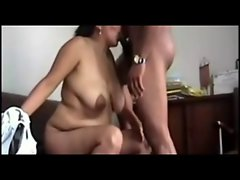 Attractive Seductive indian Aunty banging her 19yo lover