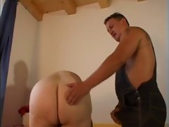 buxom granny bangs with repairman