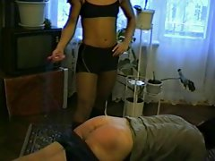 Slutty russian hardbody spanks