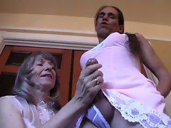 Mrs Fond Dressing Her Sissy Crossdresser
