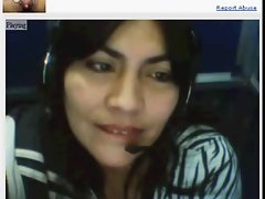 Colombian Experienced venus on Webcam at Internet Cafe