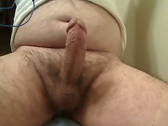 Sensual STR8 BEAR BIG Hard throbbing cock CUMS