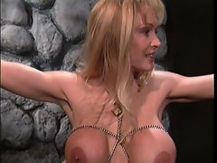 Mega big melons light-haired teases her sensual slaves hooters
