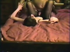 Shy dirty wife banging in fishnet catsuit hidden camera home video