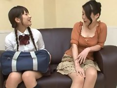 Oil Massage Daughter and Mom-2