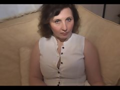 Top heavy seductive mom striptease show