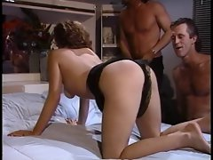 Dirty wife gets banged by husband and his friend