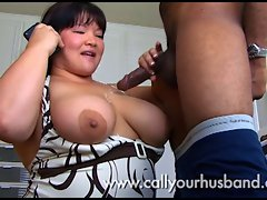 Sensual Asian Kelli Licks A BBC While On Phone With Her Husband