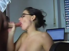 Banging a filthy secretary at her work place- ggrad