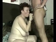 Vixen granny rough banged by younger man. Amateur