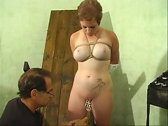 Sensual bitch with a gorgeous rack bound by her master for amuse oneself