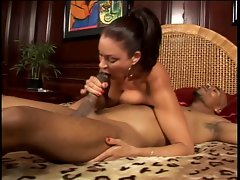 Exotic Filthy bitch strokes massive ebony pecker as well as his cigarette