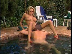 Briana Banks has attractive outdoor sex with bodyguard