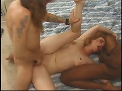Dark haired whore gets her face screwed by 18yo stud