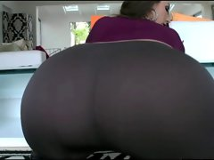 Sexual Big Butt White Girlie In Tense Pants Banging BBC!!!
