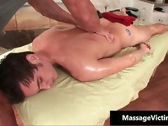 Obscene 19 years old gay chap gets a massage part1