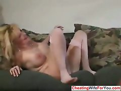 Cuckold dirty wife get banged