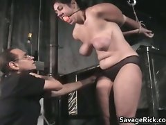 Tempting dark haired slutty girl Nikki tests her pain part4