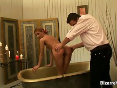 Great filthy blond vixen gets bum spanked part5