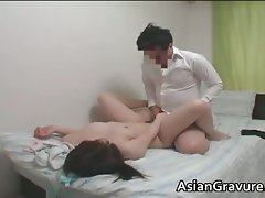 Attractive asian home teacher with big boobies part3