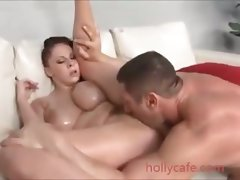 girlie with superb enormous boobs crushed by a stud Young lady