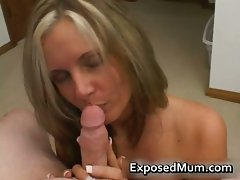 Filthy slutty mom with huge melons caresses stiff rod part1