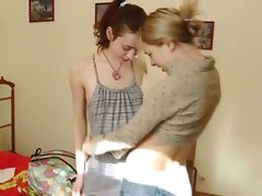 Teenager Ivana fingering her girlfirends butthole