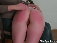 Sexual dark haired gets her juicy round ass spanked part5