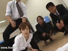 Asian secretary from asian with naughty ass milk