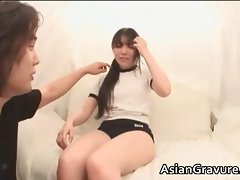 Sexual asian lady gets vagina massaged part3