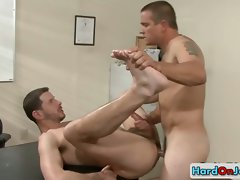 Stiff bum banging at the office part1