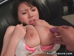 Sensual asian slutty girl with huge melons gets part2