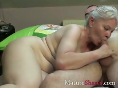 Tempting blonde experienced wench does younger young man