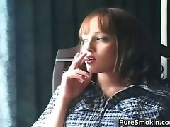 Aamazing redhead is smoking and showing part2
