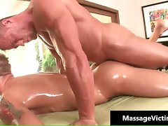 Light-haired attractive gay gets a massage part3
