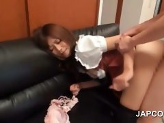 Sex doll asian gets barebacked upskirt