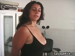 Kinky dark haired whore with gigantic hooters part2