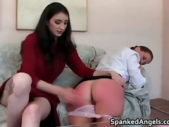 Attractive sexual dark haired filthy young woman gets her part6