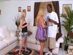 Ebony stud nails white slutty mom and not her daughter