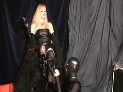 worship sensual blonde's boots