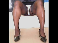 TGirl Casual Stockings Upskirt 048xh