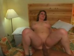 Raunchy Heavy Plumper Ex Girlfriend riding dick and getting cum on Knockers