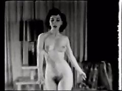 1950s Bare Slutty girl Dances & Smokes