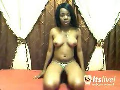 Mastubating Lustful ebony Slutty girl