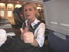 Stewardess gives extra service