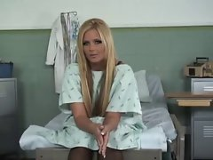 Smoking Lewd Blond Grinded On A Hospital Bed,By Blondelover.