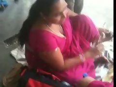 Buxom Seductive indian Filthy bitch on a Train Station 2 (o) (o)