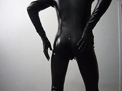 Me in catsuit playing