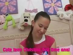 Sensual teenager Christina first time anus