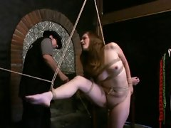 having fun with a filthy 18yo slave